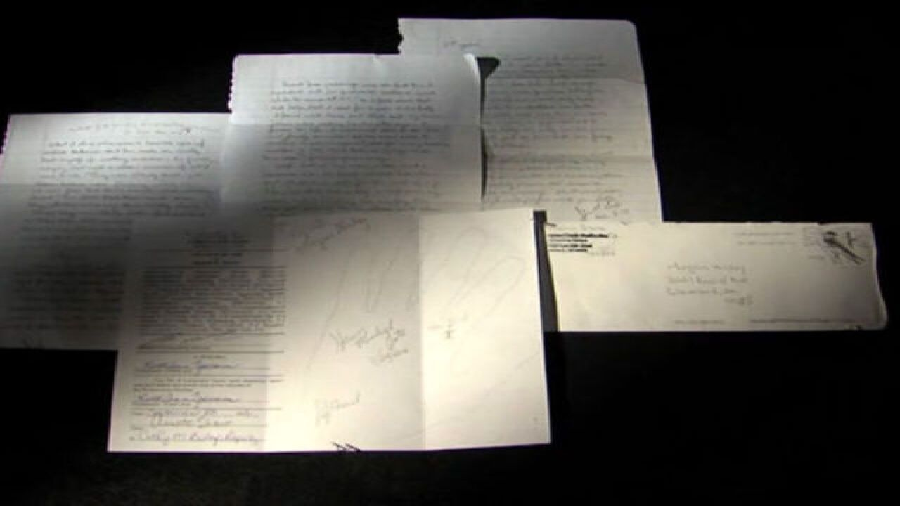 Suspected serial killer pens letter about motive