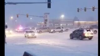 Dangerous driving conditions in and around Great Falls