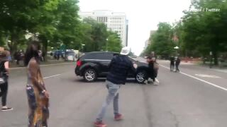 Denver police looking to identify driver who appeared to hit pedestrian during protest Thursday