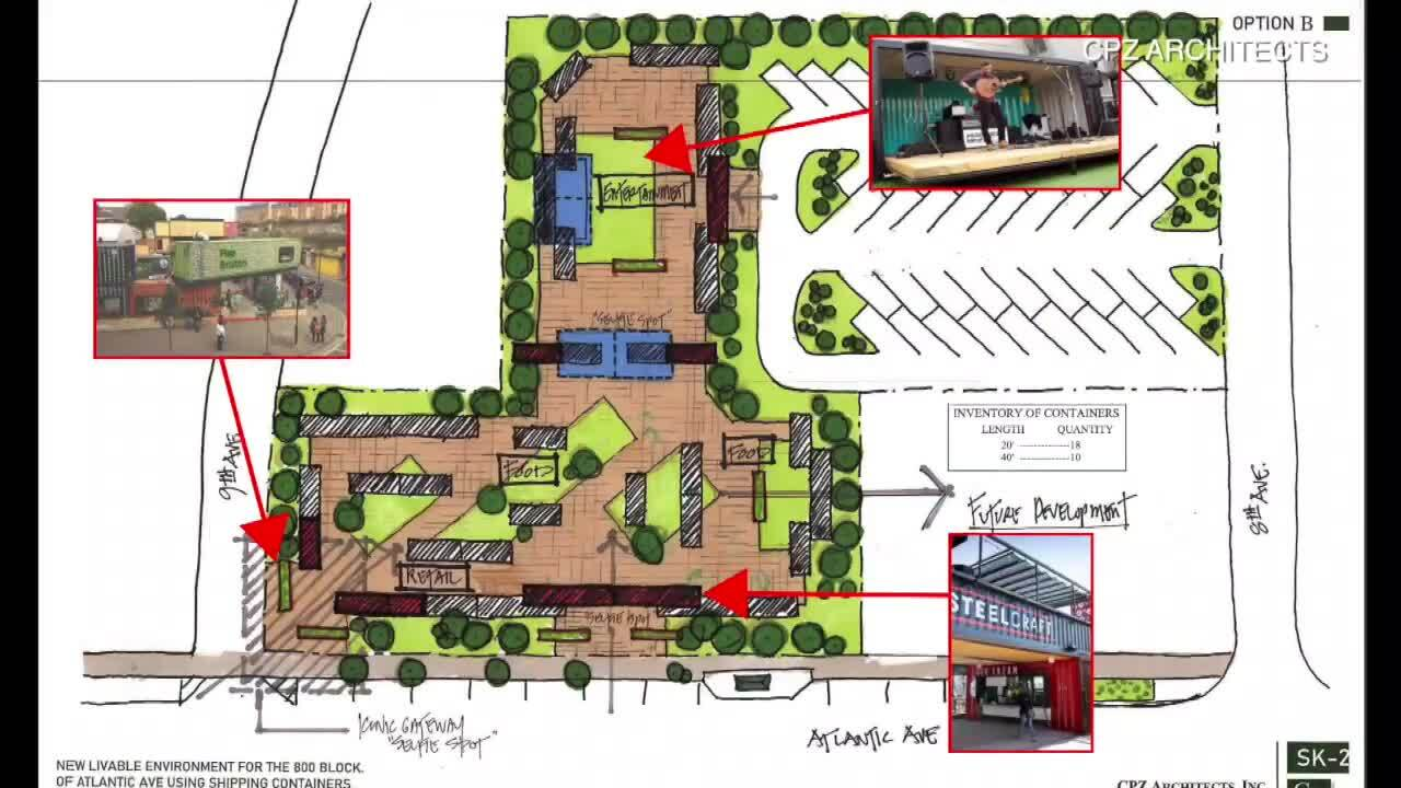 800 block of Atlantic Avenue sketch 2