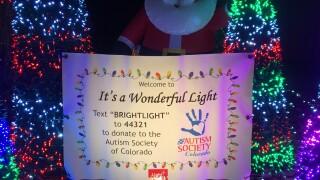 Colorado family uses Christmas light display to give back to autism organization