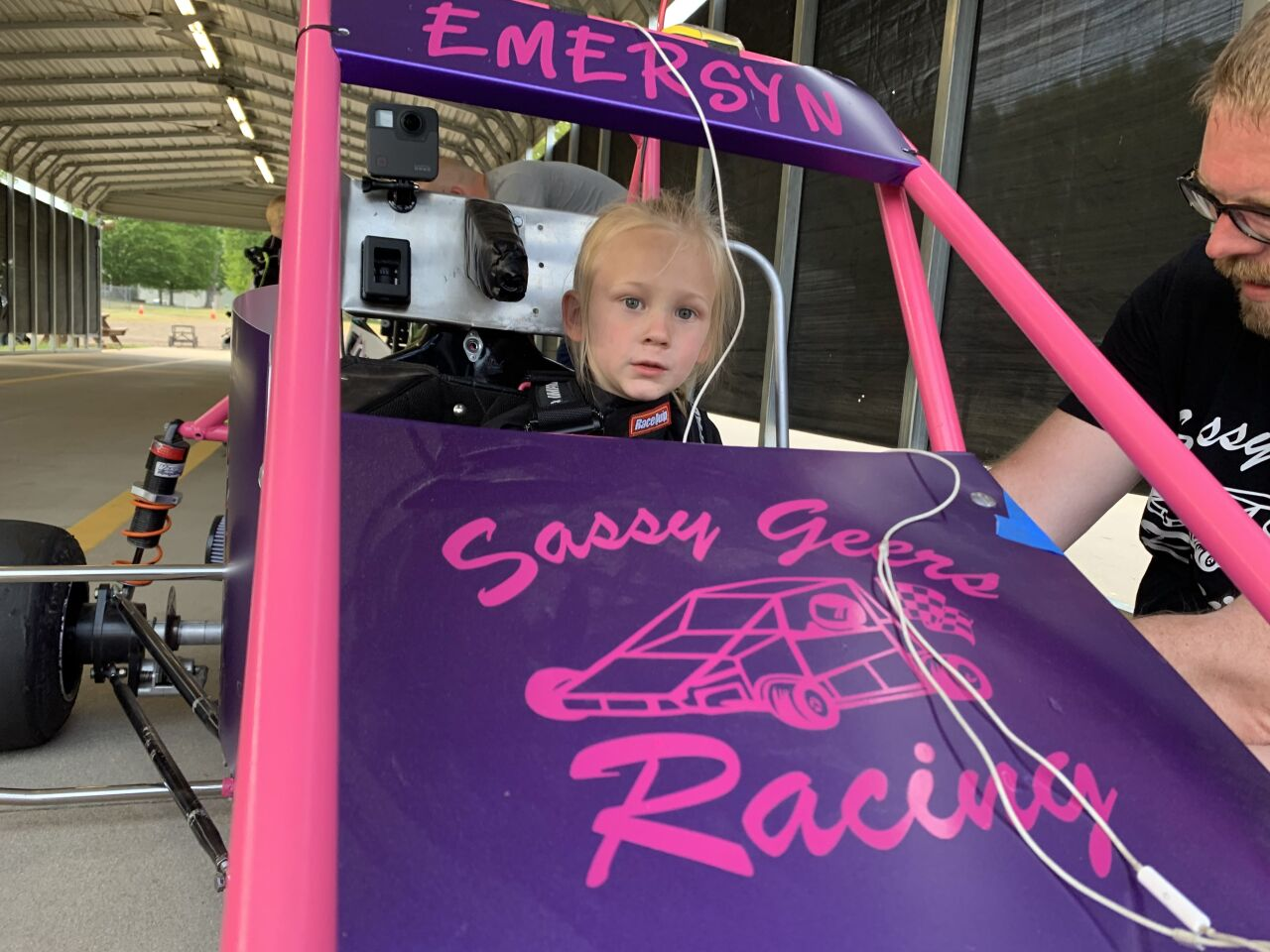 Young racer Emersyn Geers