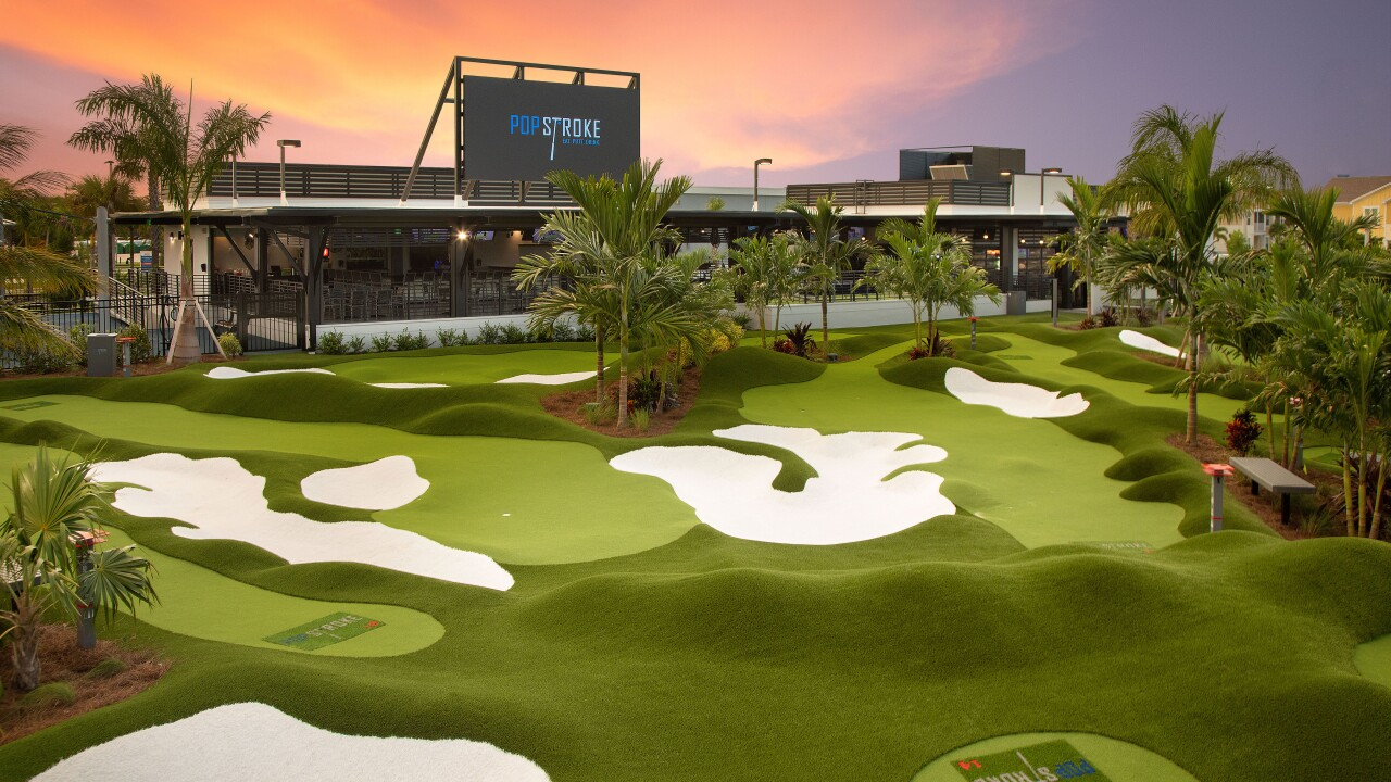 PopStroke Tiger Woods mini golf course - handout image
