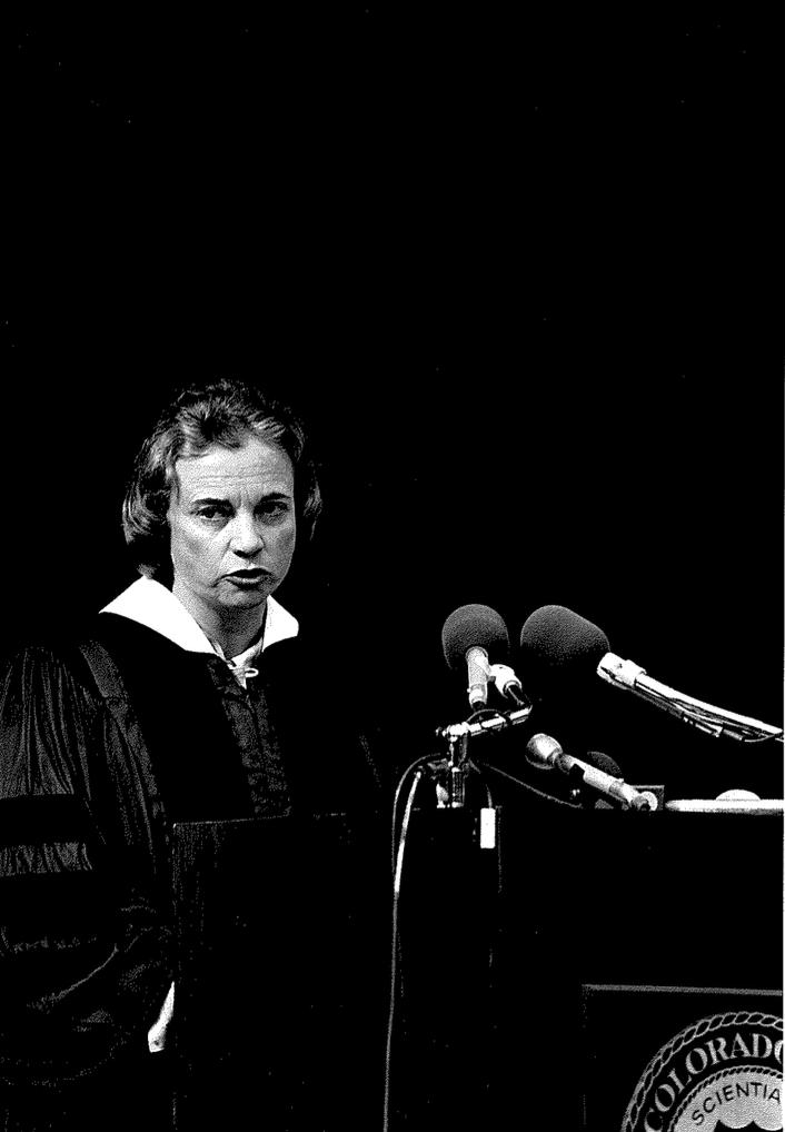 Sandra Day O'Connor at Colorado College in 1982