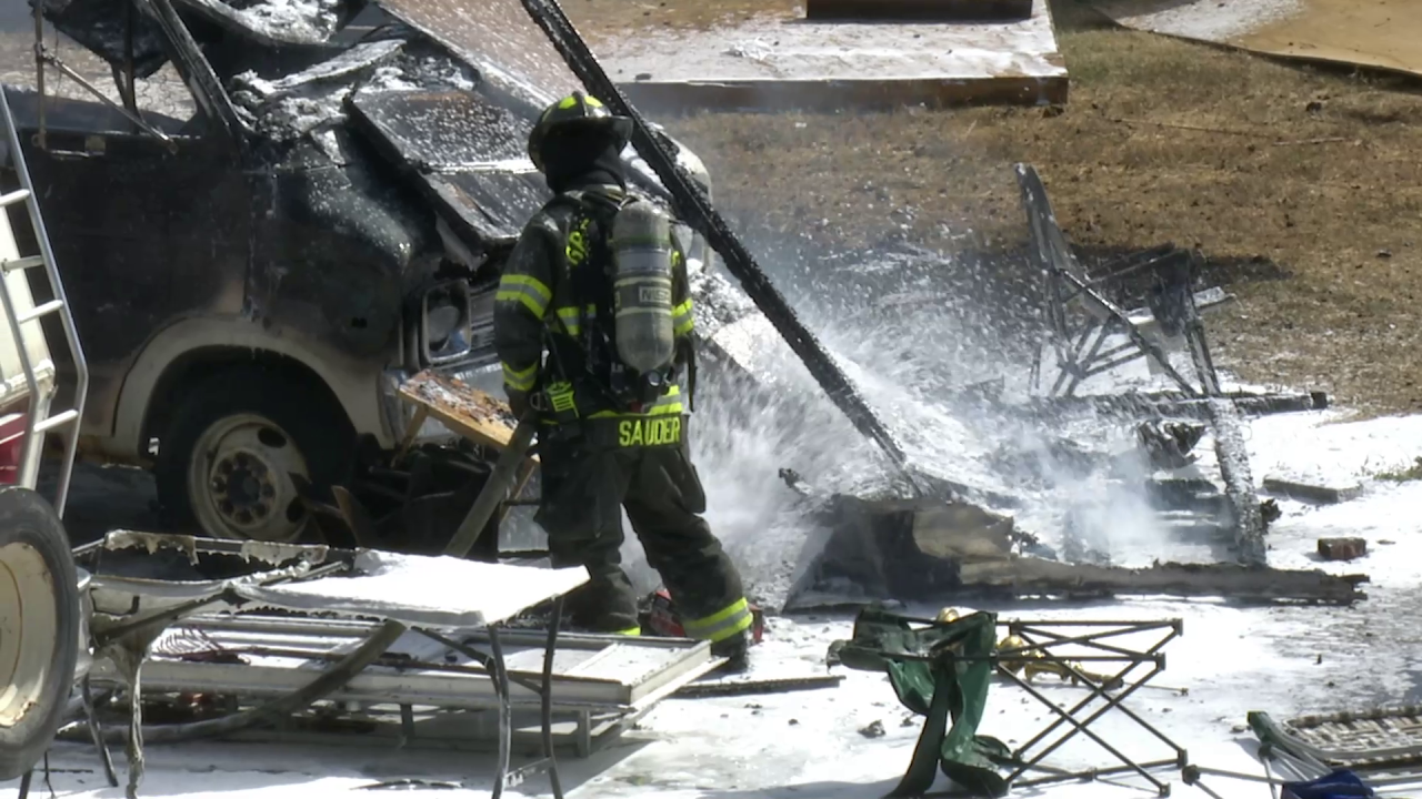 Motor home destroyed by fire in Great Falls