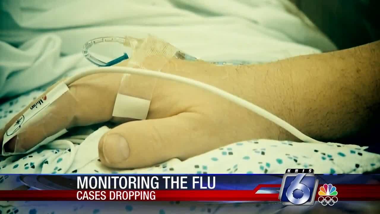 Local flu numbers trending down
