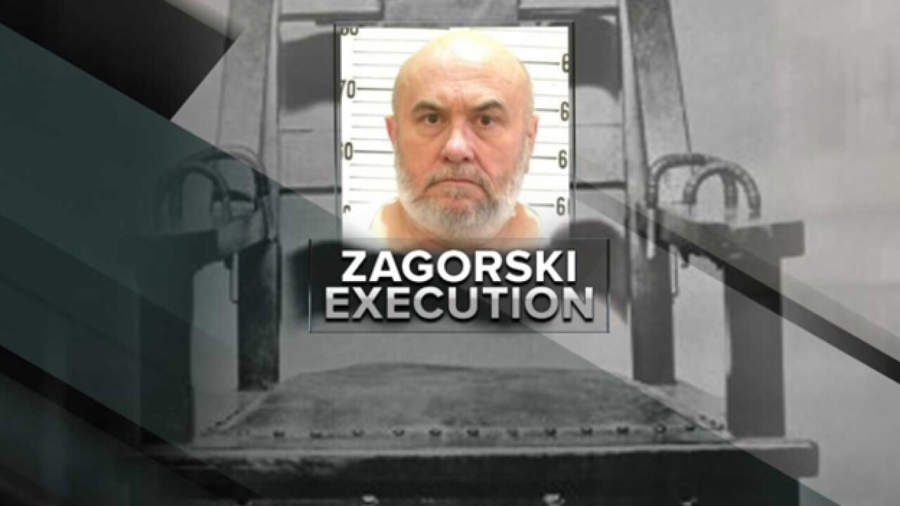 Edmund Zagorski executed by electric chair