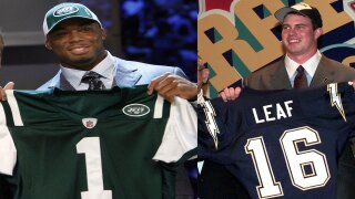 Vernon Gholston and Ryan Leaf, NFL draft busts