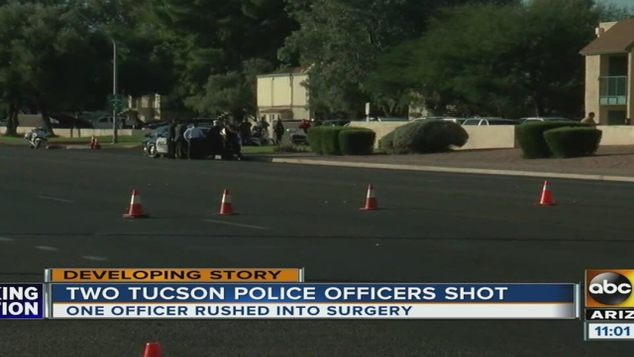 Tucson police officer involved in shooting