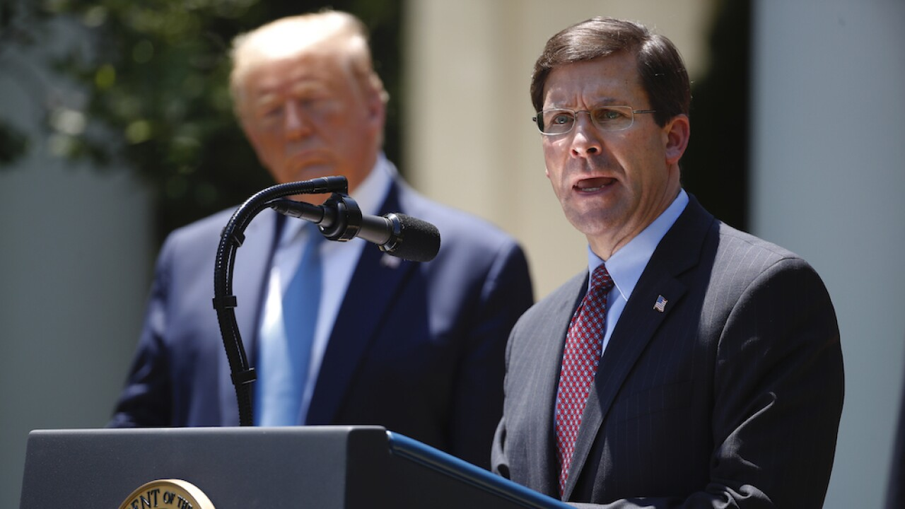 Trump tweets that Sec. of Defense Mark Esper has been 'terminated'
