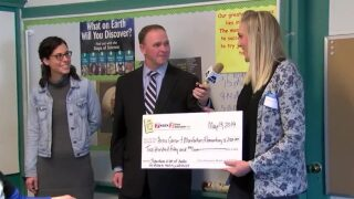 Monforton Elementary School awarded One Class At A Time check