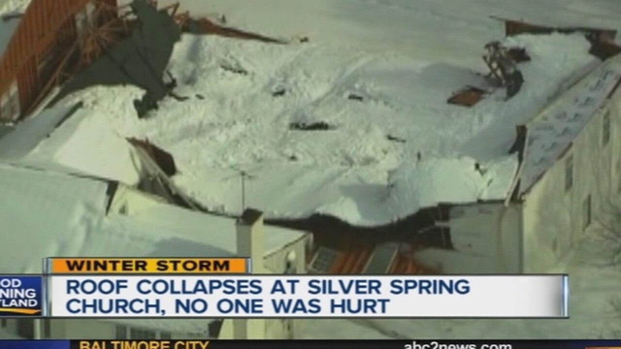 Snowfall causes several roof collapses