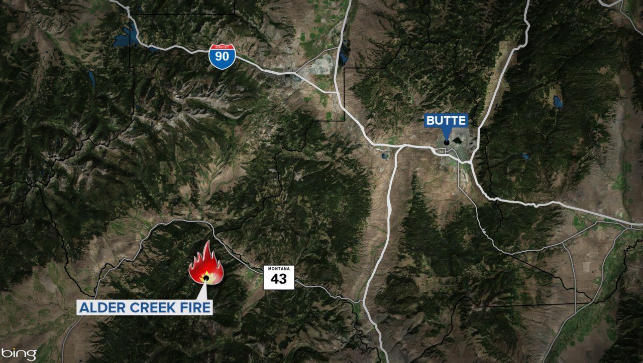 alder creek fire map