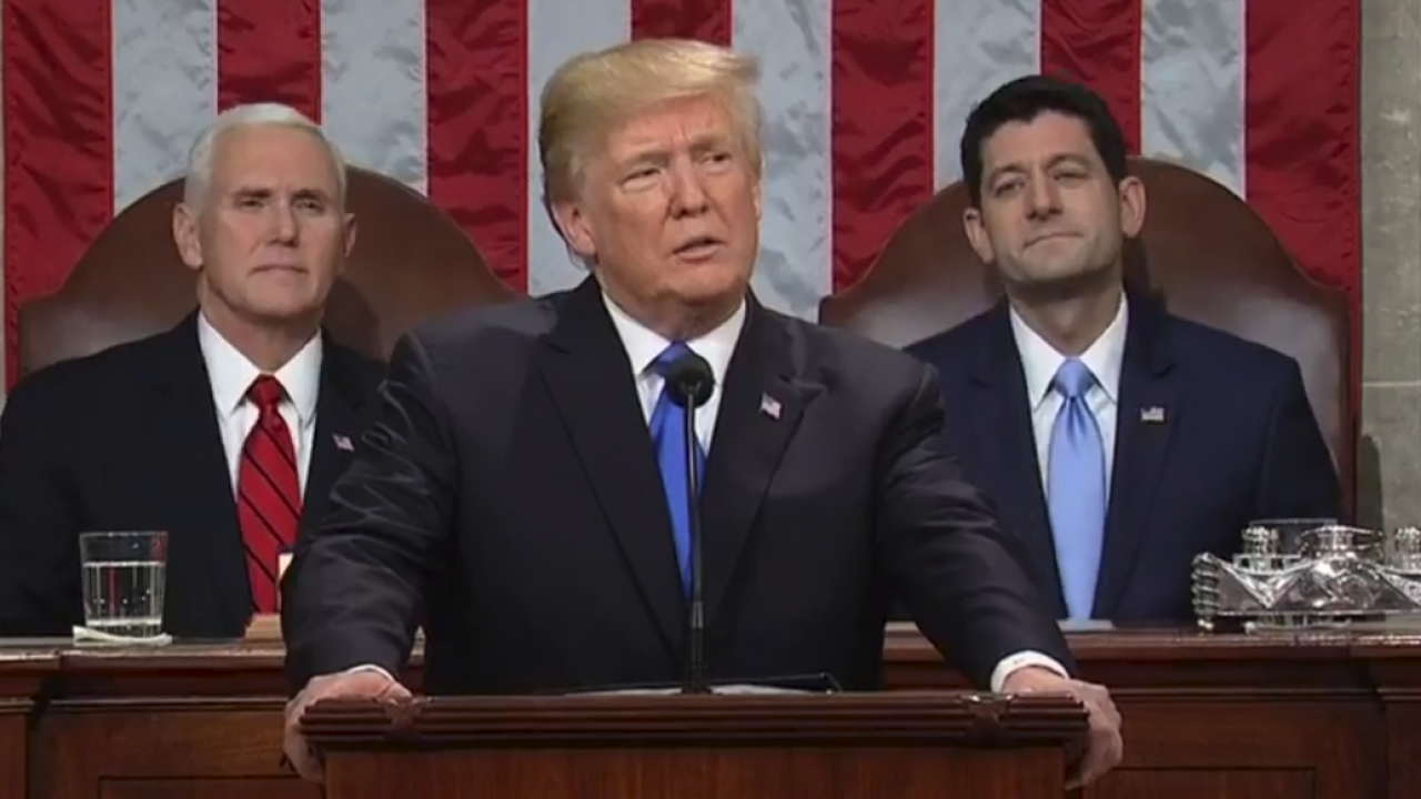 Watch: President Donald Trump delivers first State of the Unionaddress