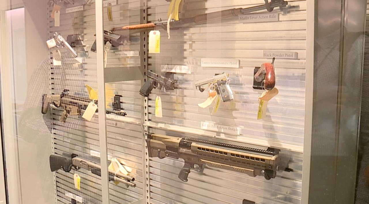 Firearms in the new Hamilton County crime lab