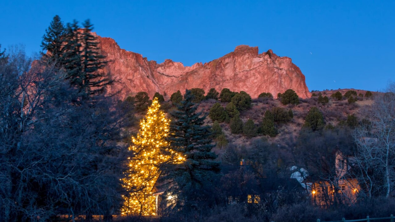 Garden of the Gods at Christmas