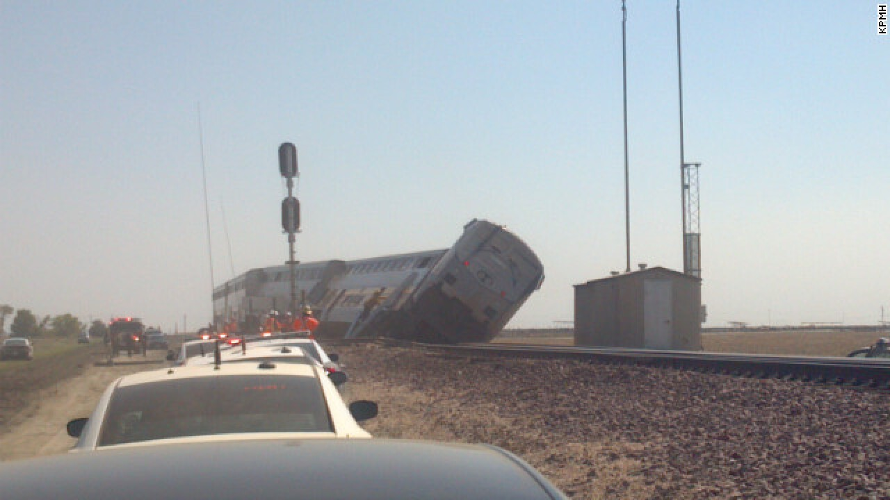 Amtrak train collides with big rig; 30 hurt