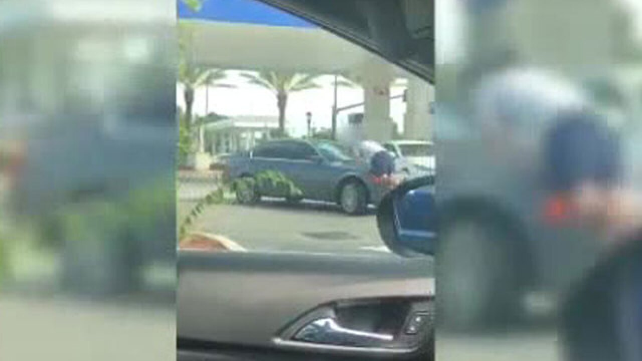 VIDEO: Man hit by car at Central Florida gas station during road-rage incident
