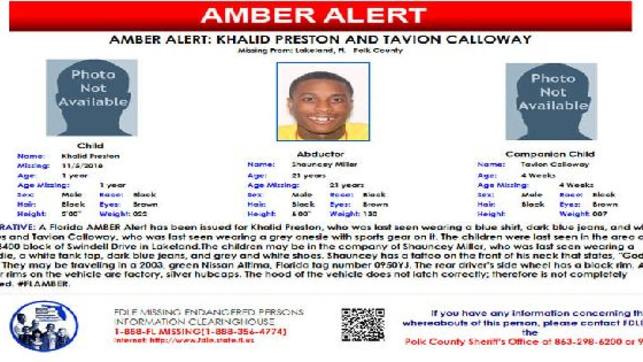 Found Florida Amber Alert Issued For Two Missing Children From Lakeland