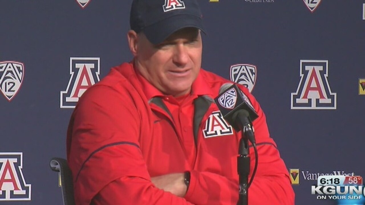 University of Arizona fires football coach Rich Rodriguez amid sexual harassment claim