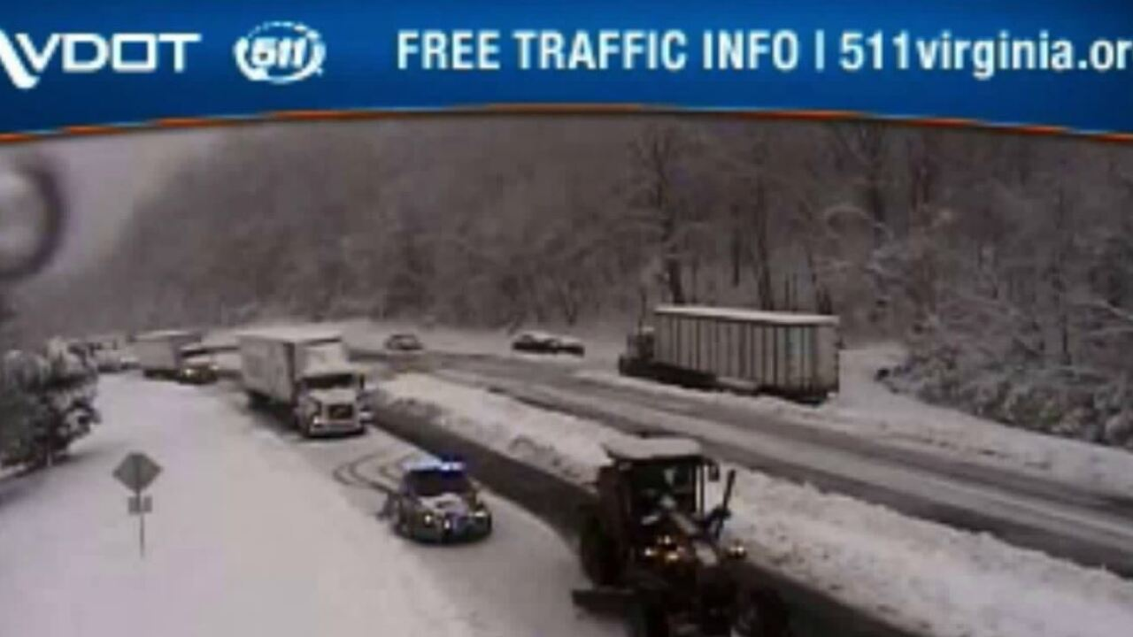 Spring snow closes Route 33 in Virginia