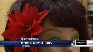 Empire Beauty School adds holiday flair to your hair