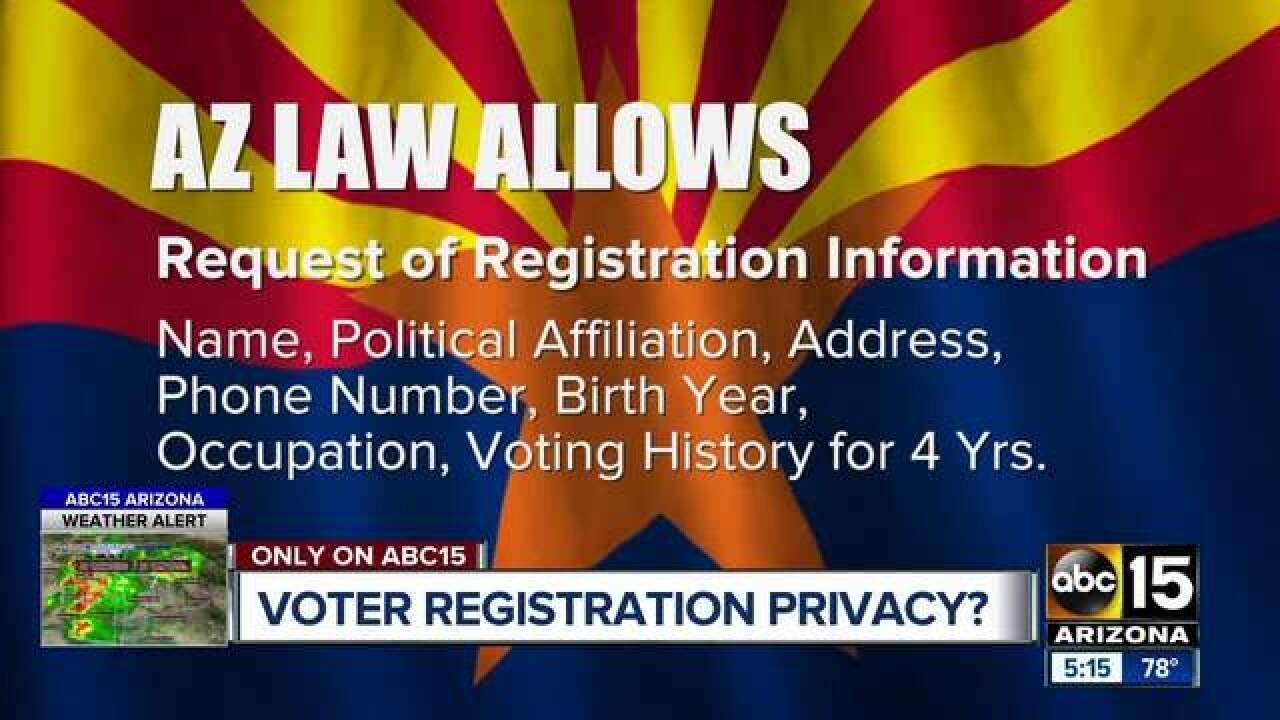 Voter registration information: What information is public