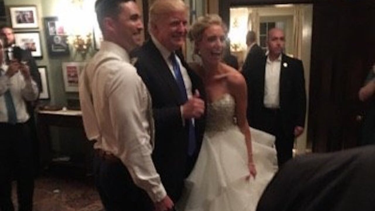 President Trump crashes New Jersey wedding