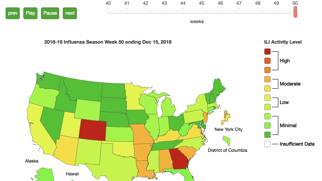 Influenza season in full swing as flu activity increases across U.S.: See how your region compares