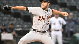 Tigers send LHP Hall to Red Sox for minor league C Nuñez