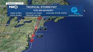 Tropical Storm Fay 5AM Advisory
