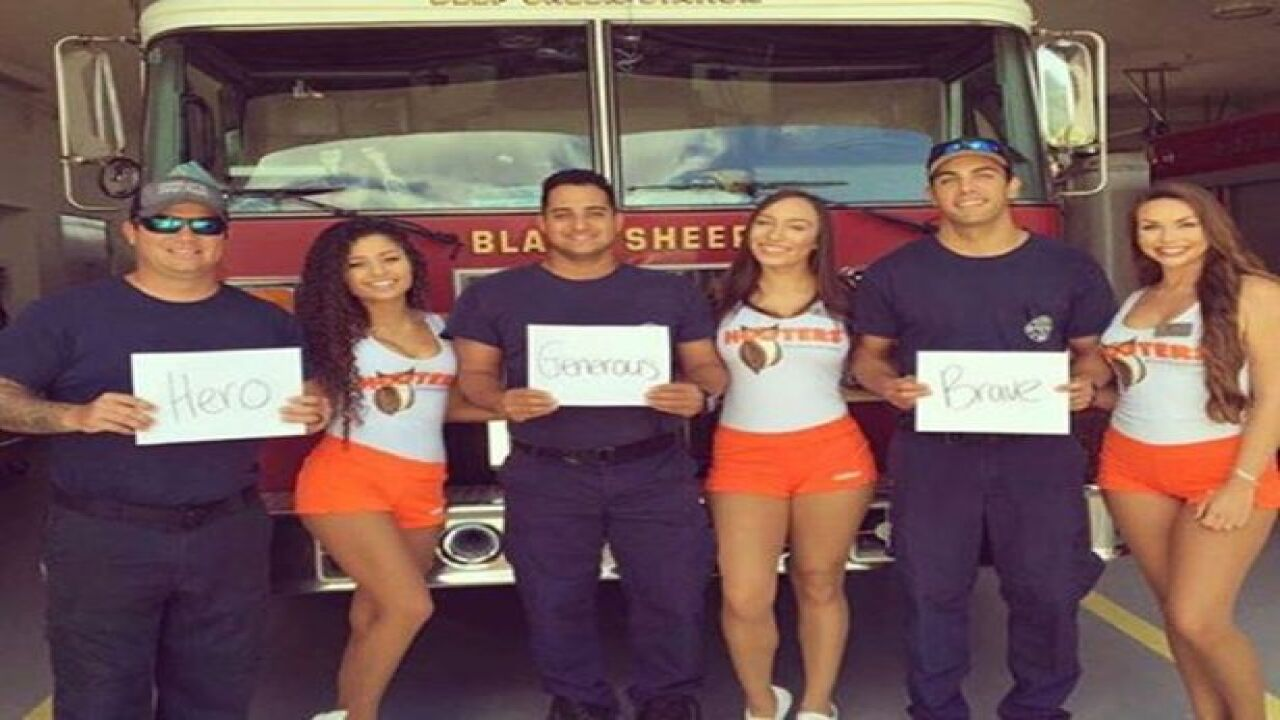 Hooters offers free meals for first responders today