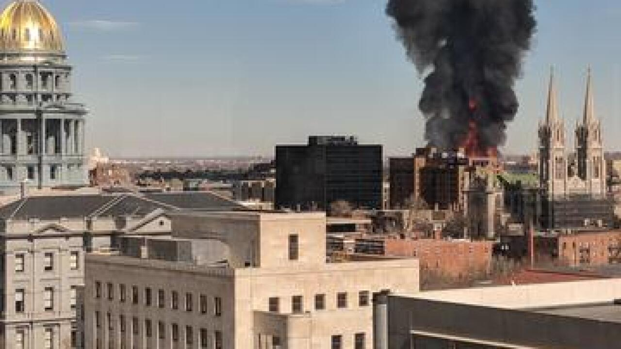 PHOTOS: Large fire near downtown Denver