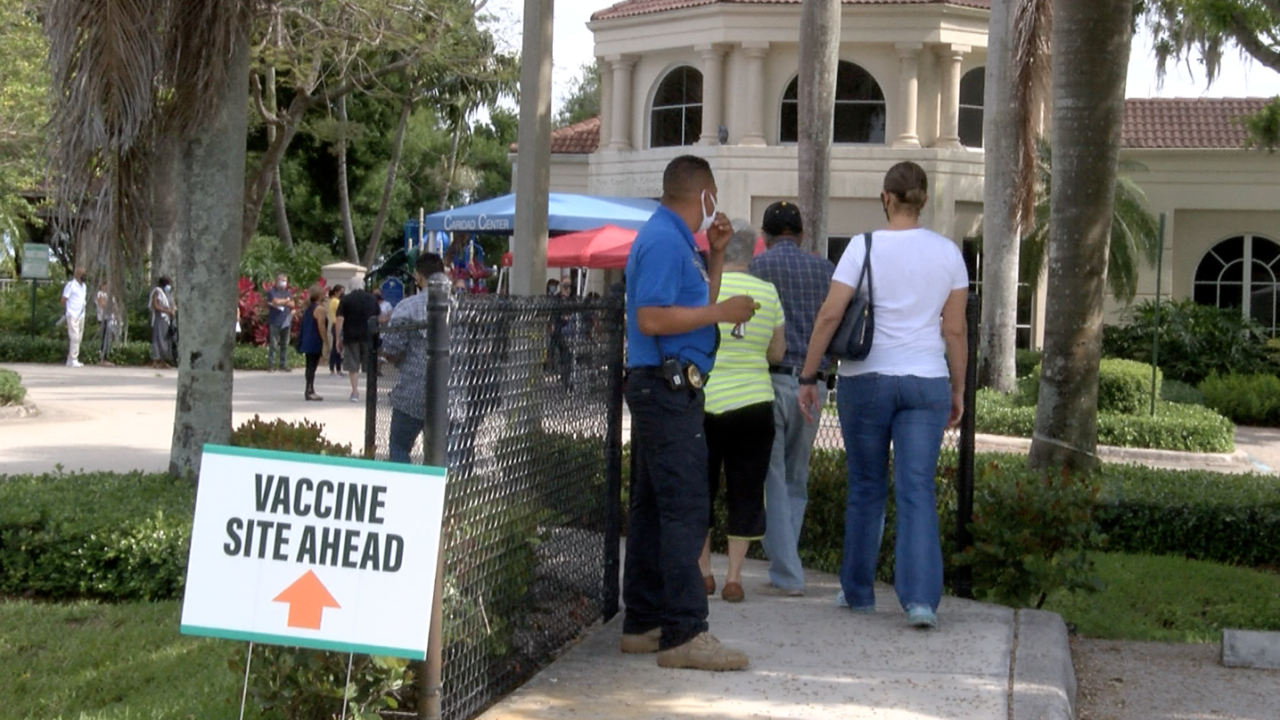 The Caridad Center in Boynton Beach held a vaccine clinic for the minority community Saturday morning.