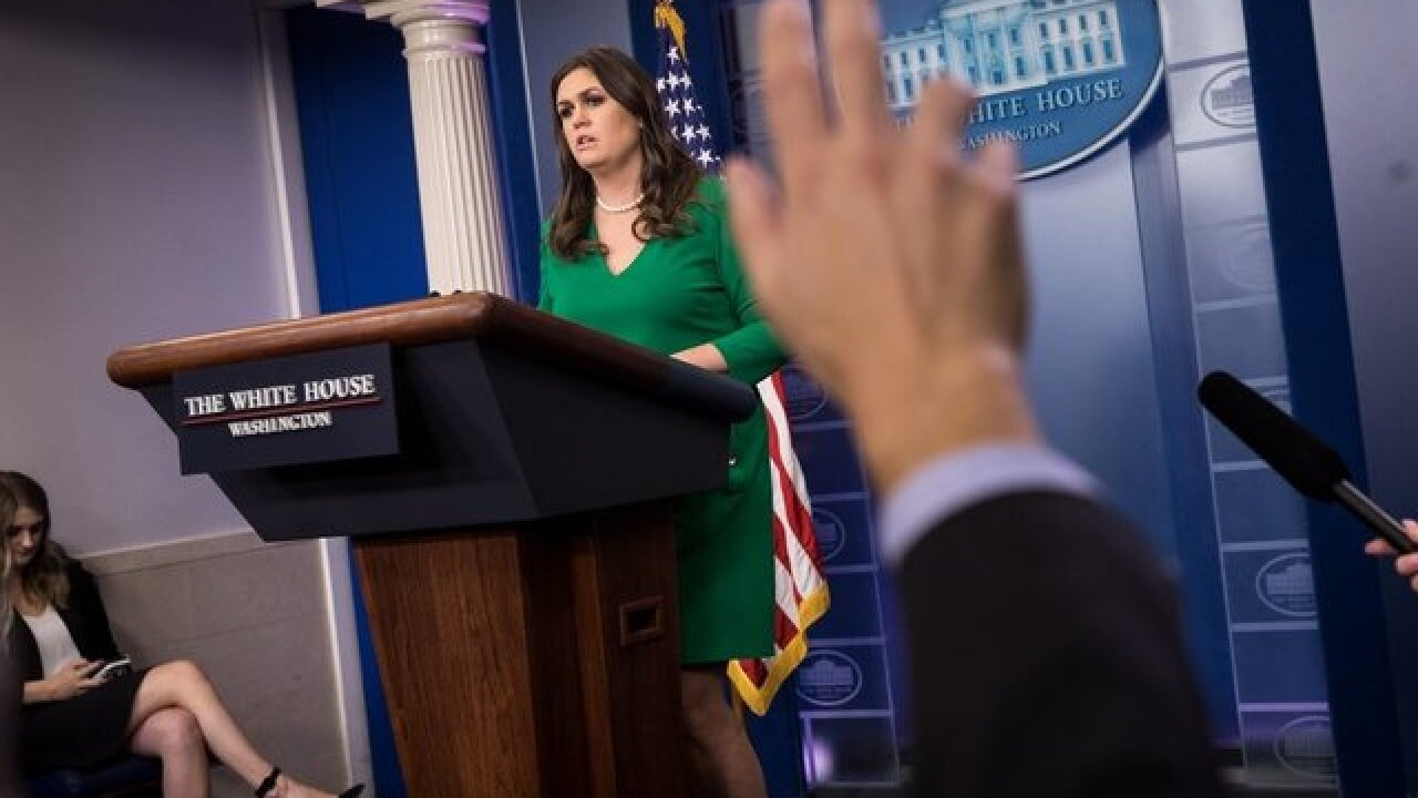 White House press secretary Sarah Sanders responds to report of her departure