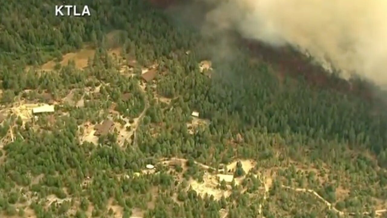Idyllwild wildfire burns hundreds of acres