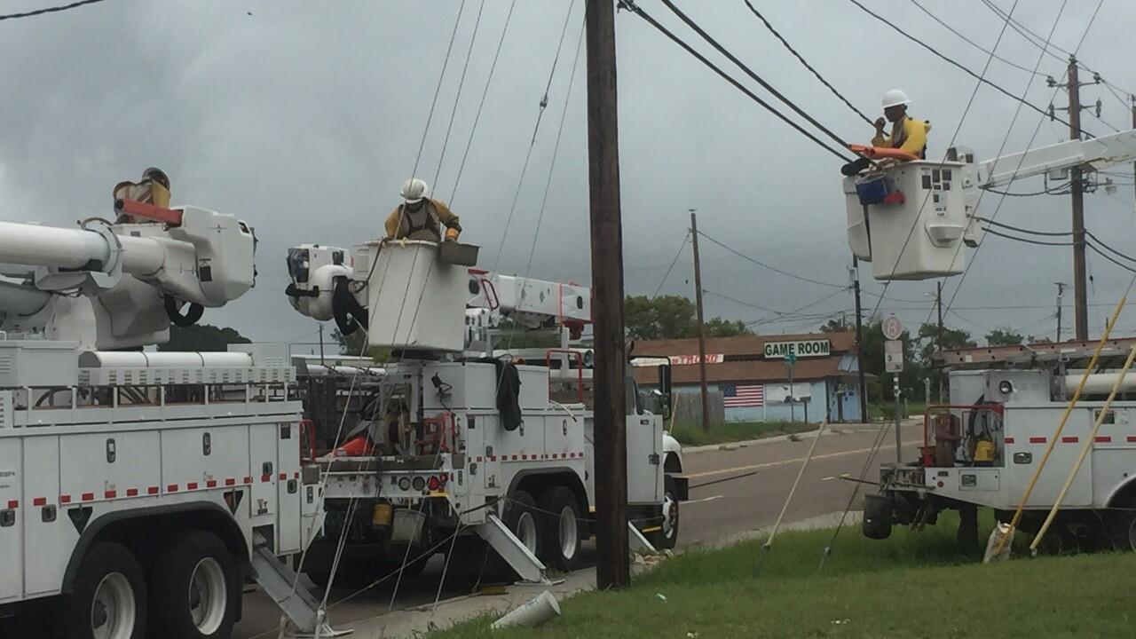 Corpus Christi AEP crews