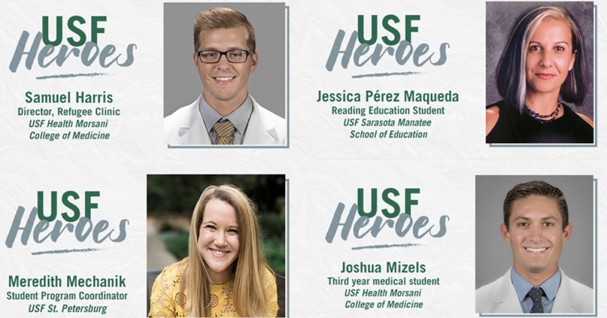 USF Heroes project highlights students, staff giving back during pandemic