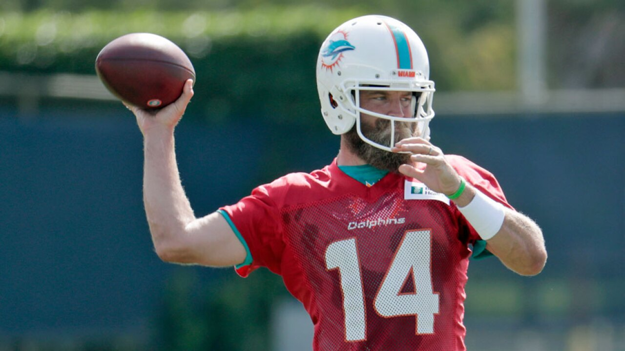 low priced fc17b c6e93 Ryan Fitzpatrick is front-runner in QB race, Miami Dolphins ...