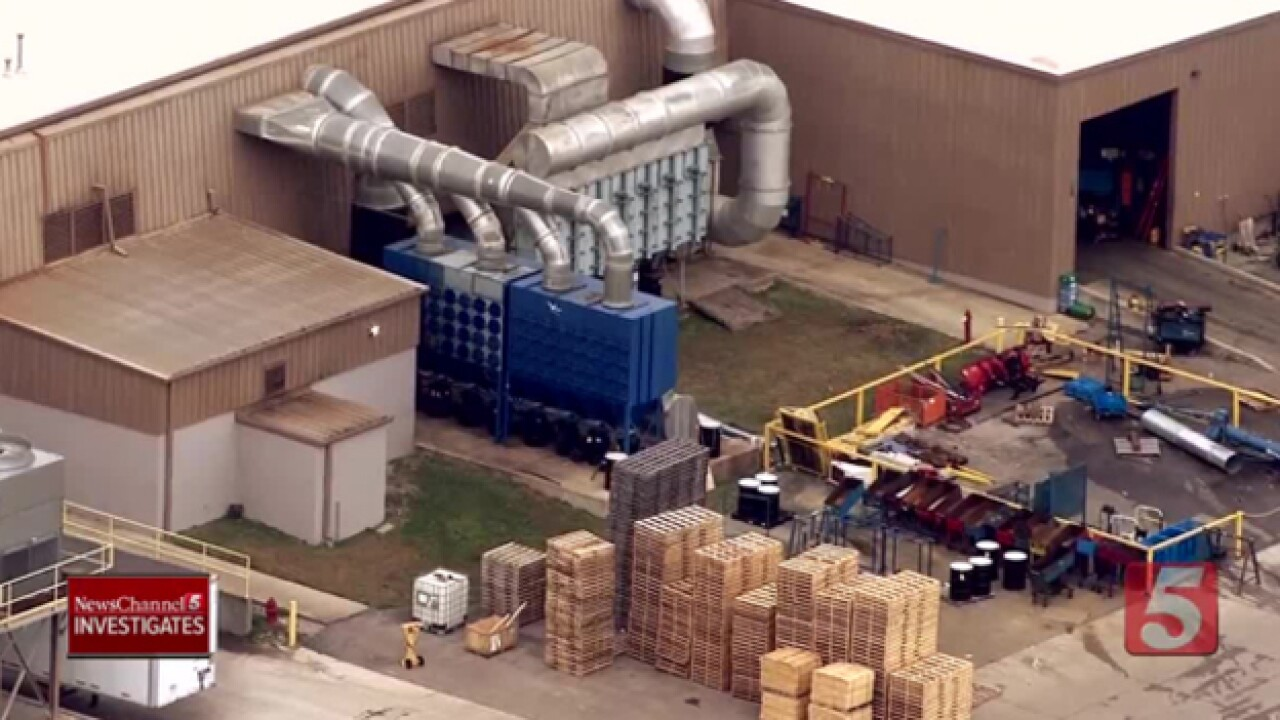 Ventilation System at Tenneco Plant Catches Fire