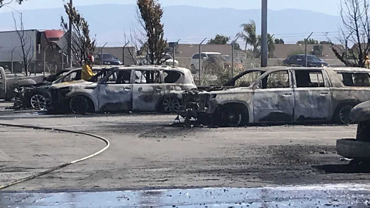 CarMax Fire in Bakersfield Destroys 85 Cars