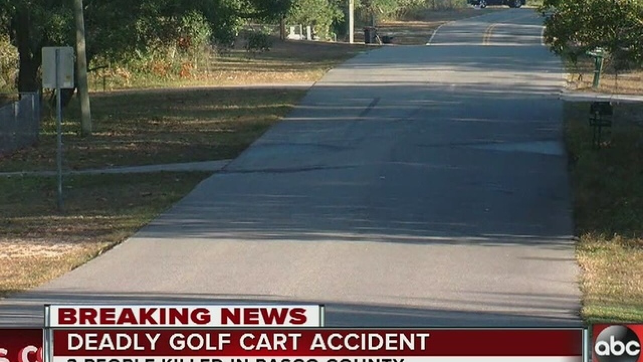 3 dead in golf cart traffic crash in Central FL