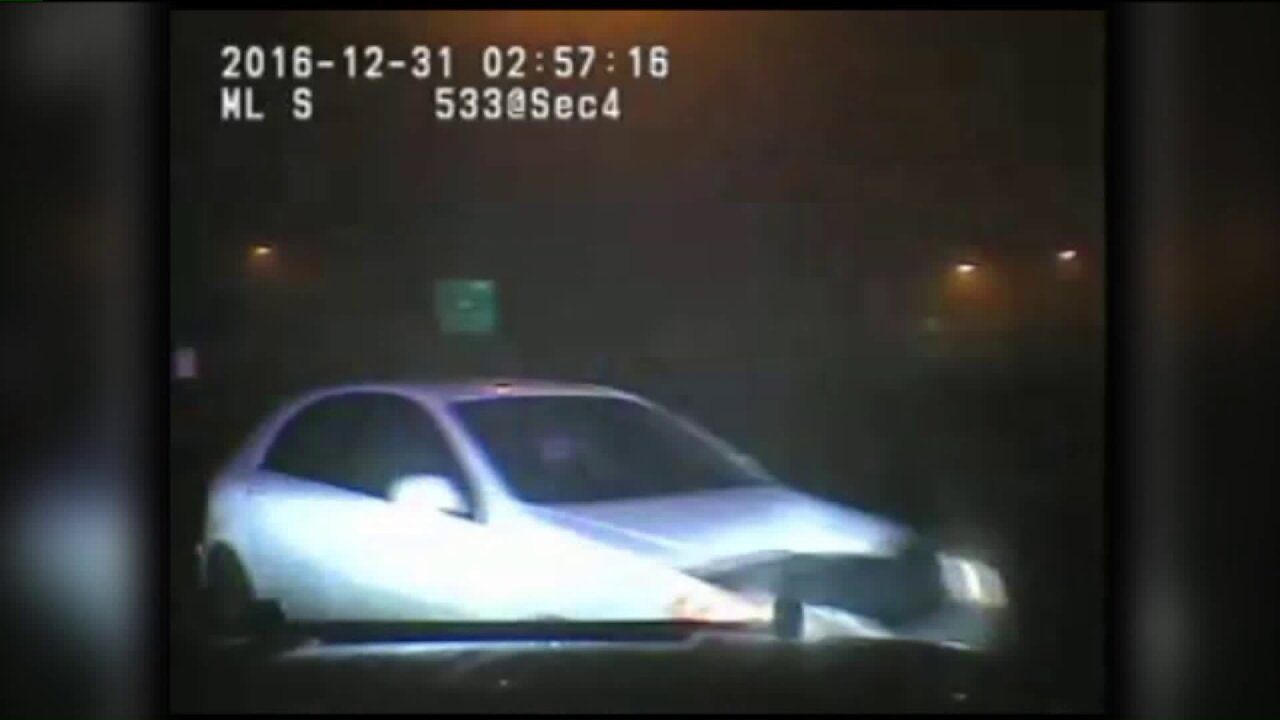 Dash cam videos show wrong-way driver clipping patrol vehicles onI-15
