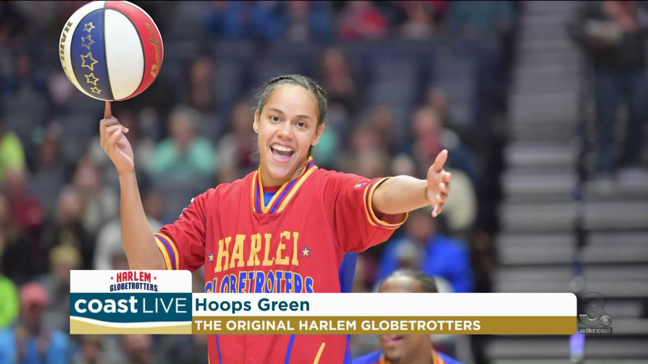 A Harlem Globetrotter, Hoops Green, shares her story on Coast Live