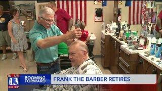 Booming Forward: Frank the beloved barberretires