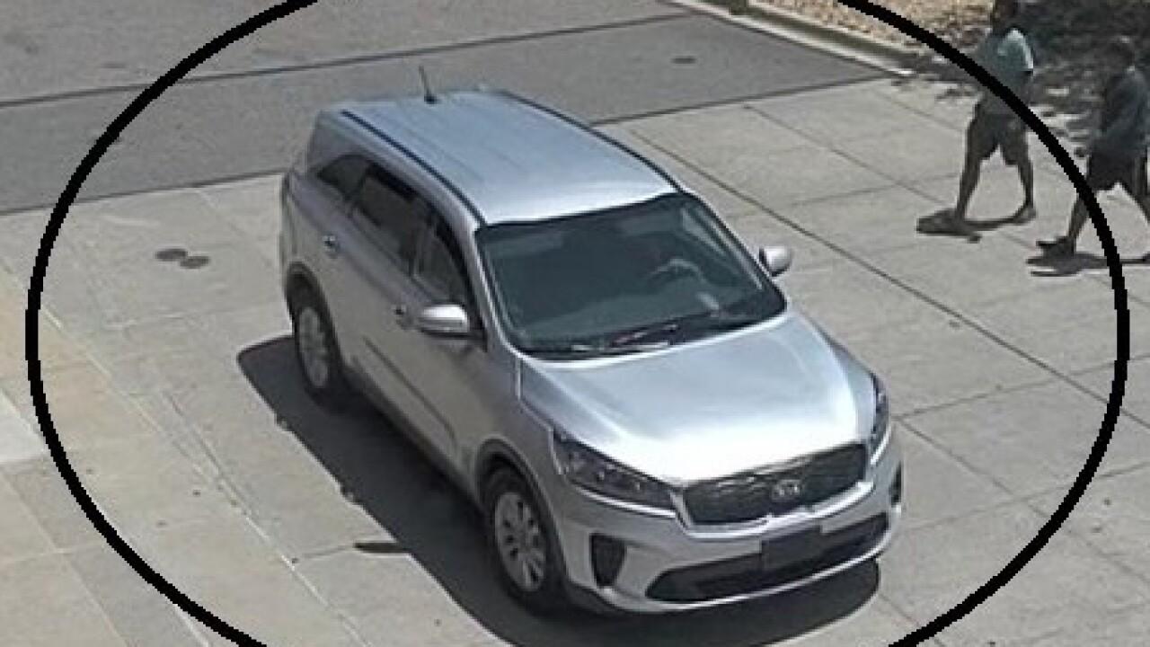 Suspect vehicle in Parker dog park break-ins