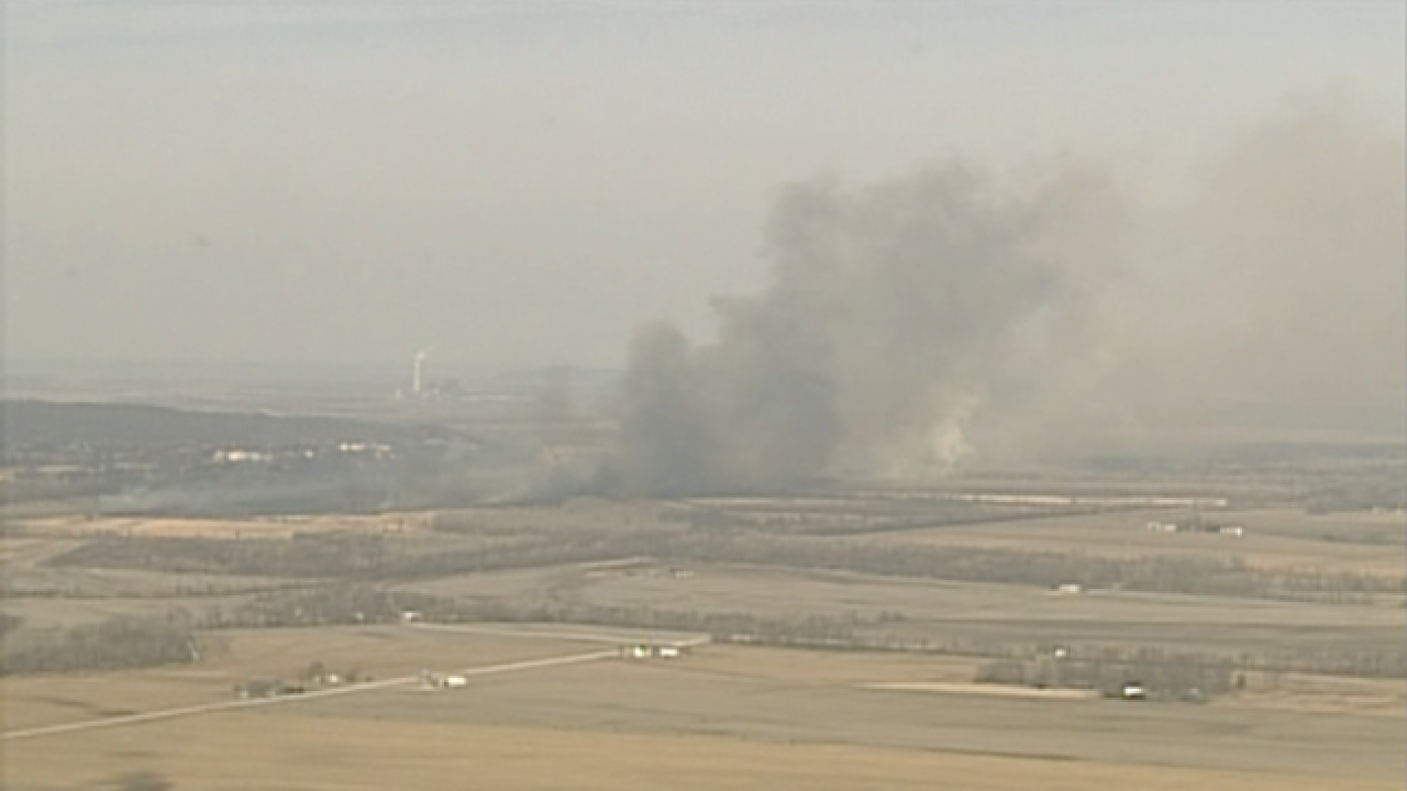 PHOTOS:50+ acres burned in Platte Co. grass fire