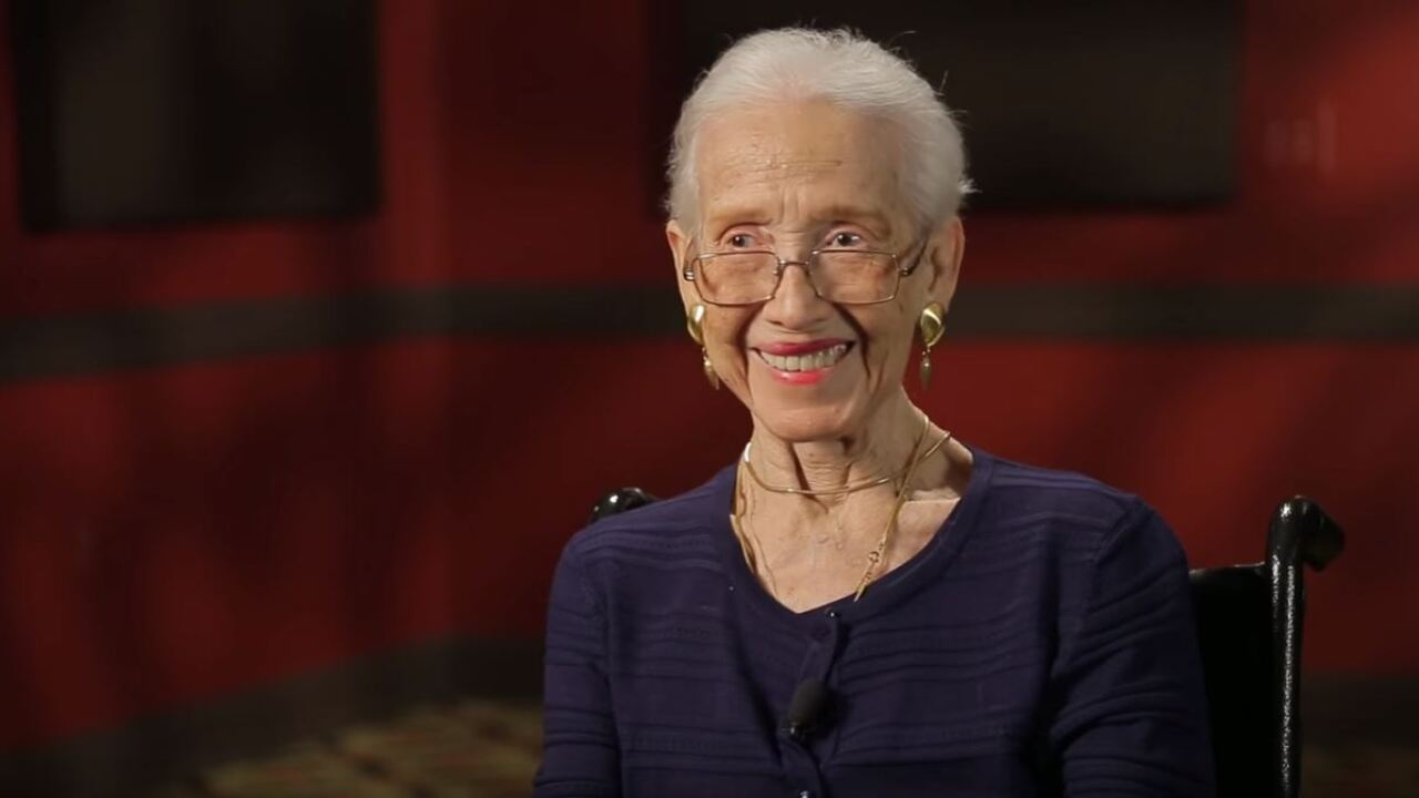 Katherine Johnson, who hand-crunched the numbers for America's first manned space flight, is 100today