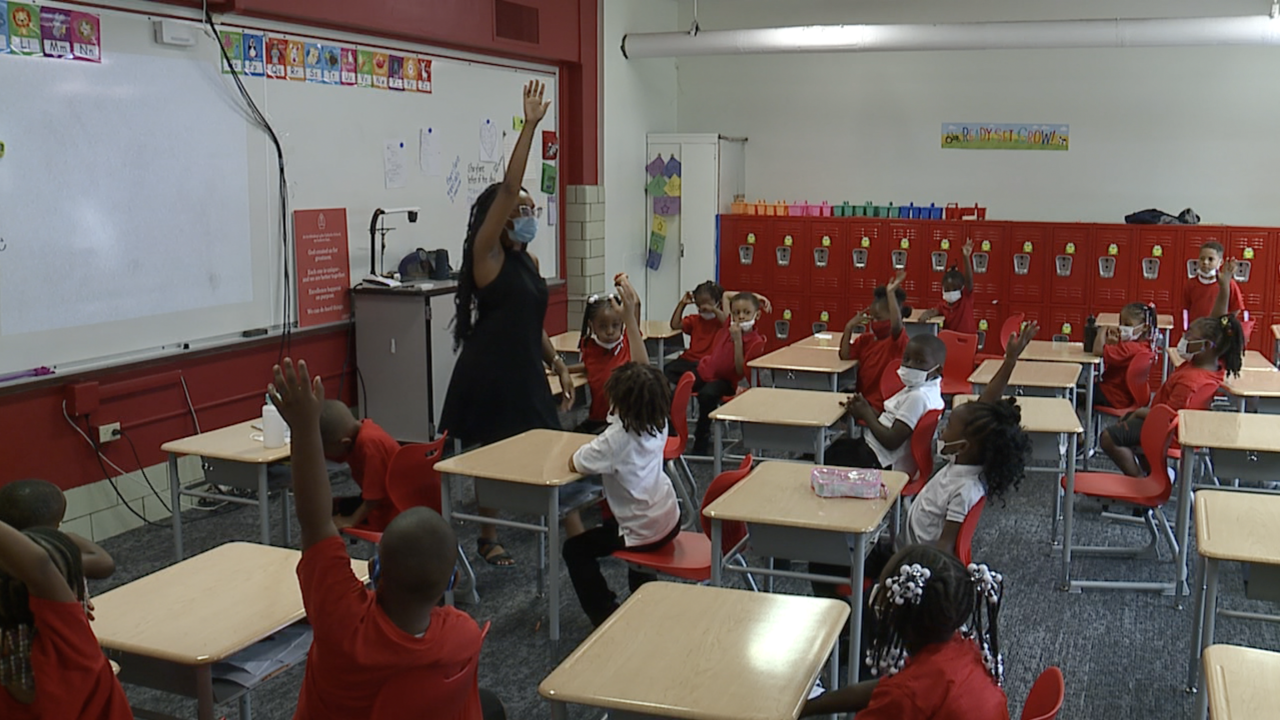 Teachers, students adapt to classroom changes during first week back at Cleveland Catholic school
