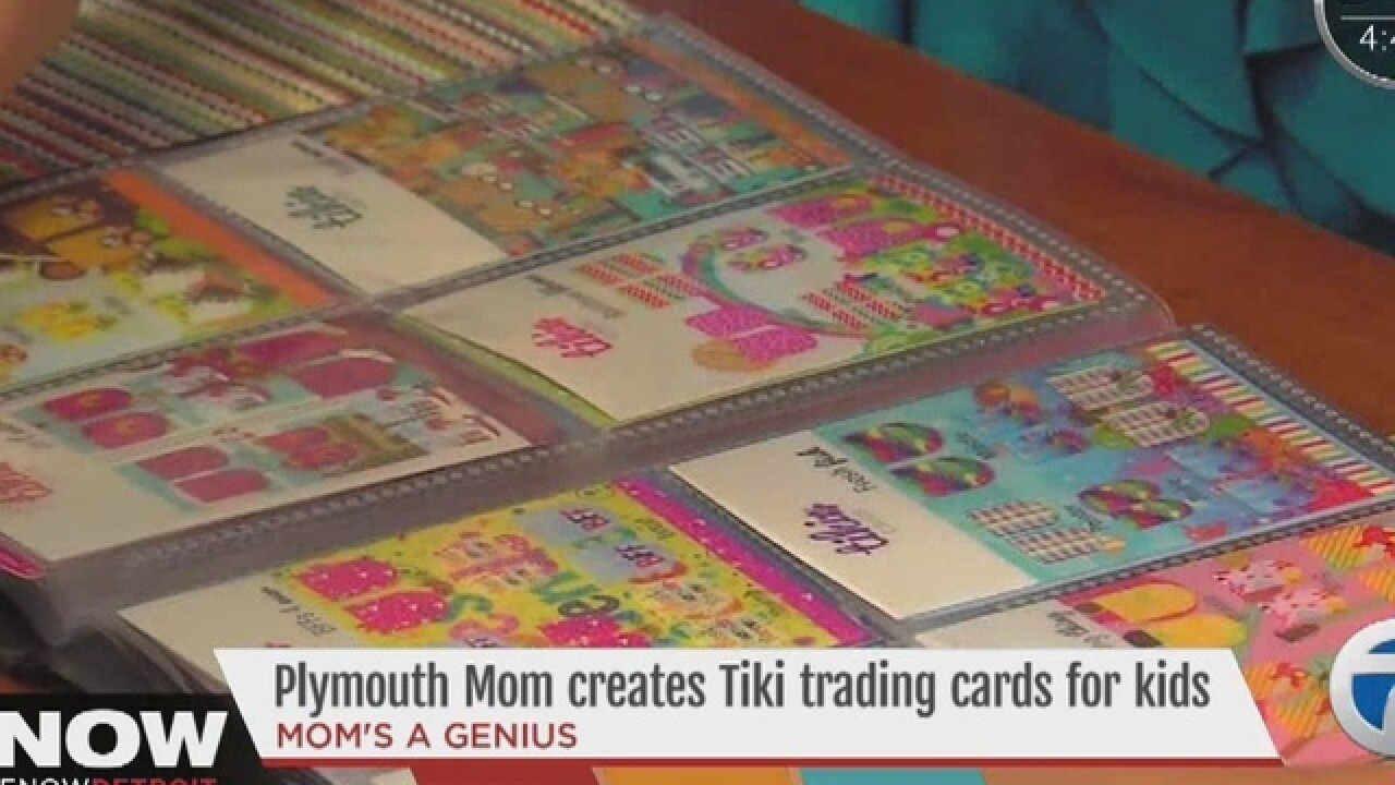Trading cards & mini-manicures all in one